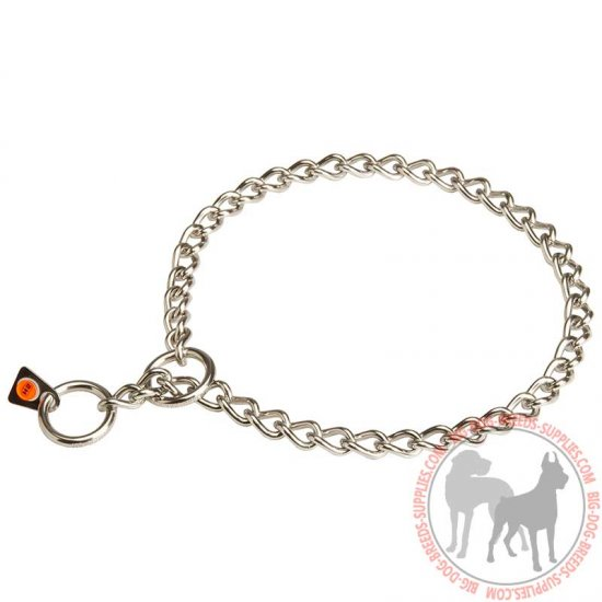 Herm Sprenger Stainless Steel Choke Dog Chain for Training and Correcting Behavior - 1/9 inch (3 mm)