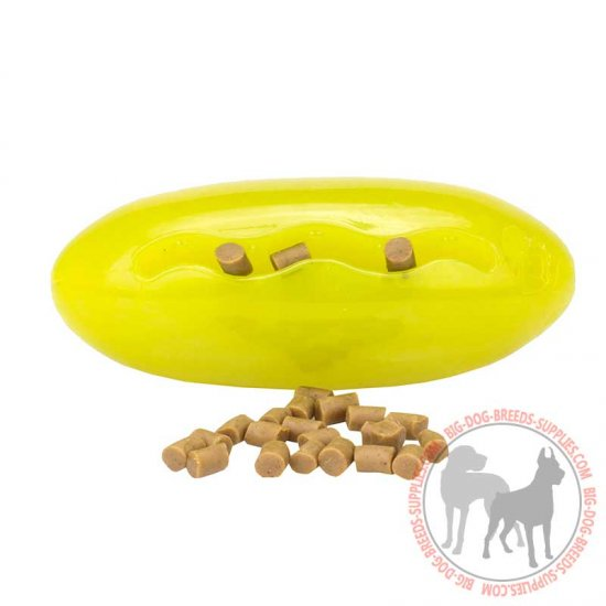 """Melon shaped"" Rubber Treat Dispenser for Medium and Large Dog Breeds"