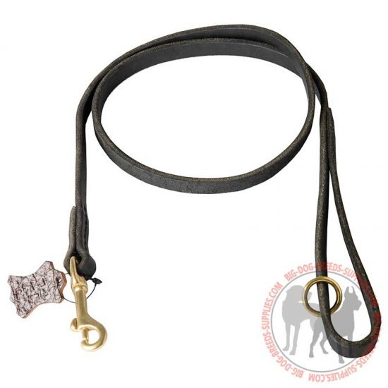 Stitched Leather Leash for Dog Training, Walking, Police Tracking and Patrolling