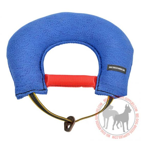 """Half-Moon"" French Linen Dog Bite Tug for Efficient Training"