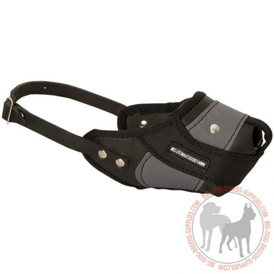 Agitation Training Nylon & Leather Dog Muzzle