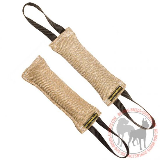 Jute Bite Tug with Nylon Handle