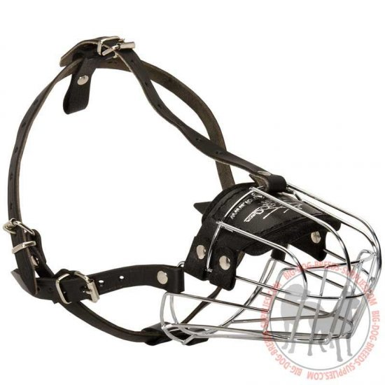 Basket Wire Dog Muzzle with Padded Nose Area