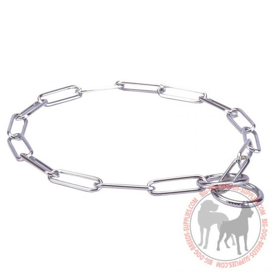 'Sound look' Chrome Dog Collar with Fur Saving Effect - 1/10 inch (3 mm)