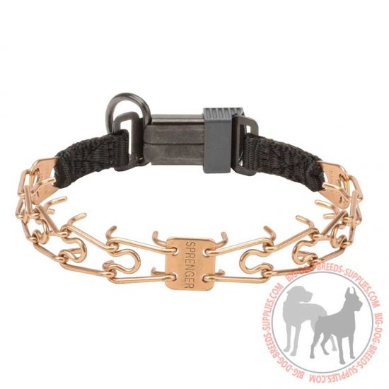 'Easy Taming' Dog Pinch Collar Produced of Curogan Alloy with Prong Diameter 1/11 inch (2.25 mm)