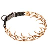 'Briar Patch' Dog Pinch Collar with Click Lock Buckle of Curogan - 1/8 inch (3.2 mm)