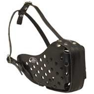 Attack / Agitation Training Leather Dog Muzzle