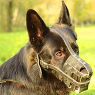 Ventilated Royal Mesh Leather German Shepherd Muzzle