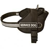 Lightweight Nylon Dog Harness for SAR, Police Service, Tracking, Training, Walking
