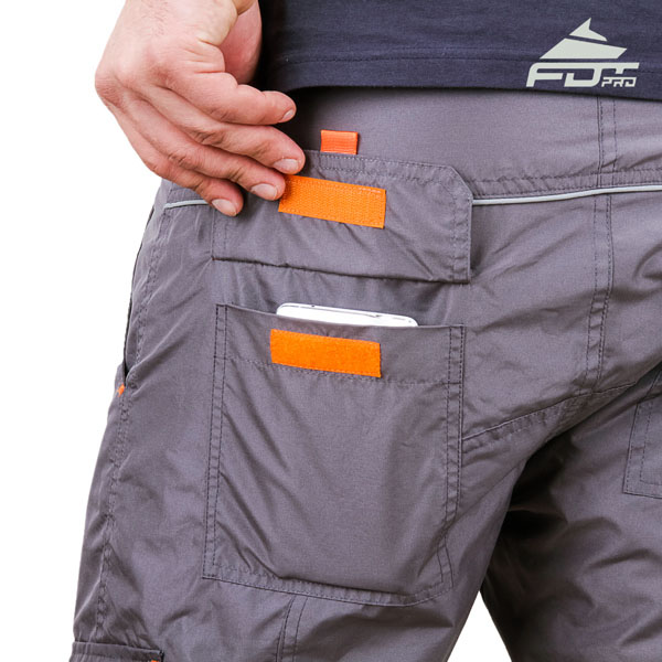 Comfortable Design Pro Pants with Durable Back Pockets for Dog Training