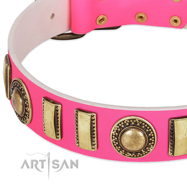 Top rate leather dog collar for your impressive pet