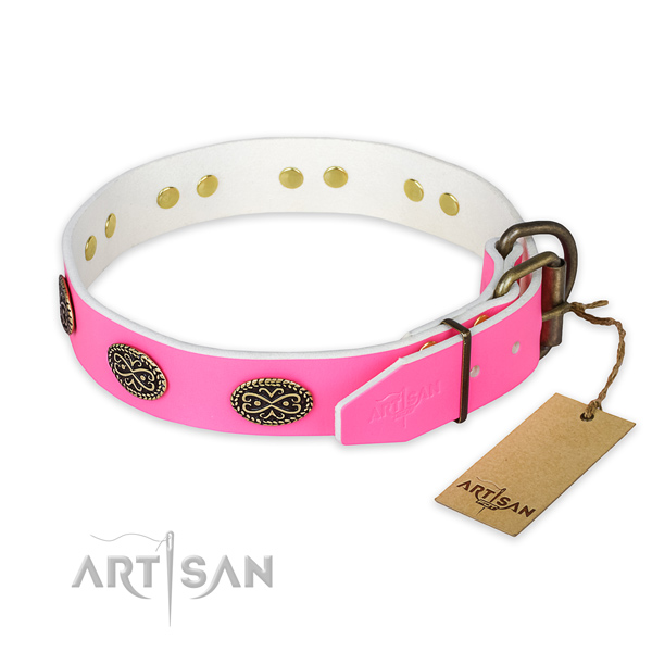 Durable fittings on comfy wearing dog collar