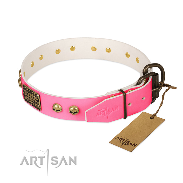 Strong decorations on comfortable wearing dog collar