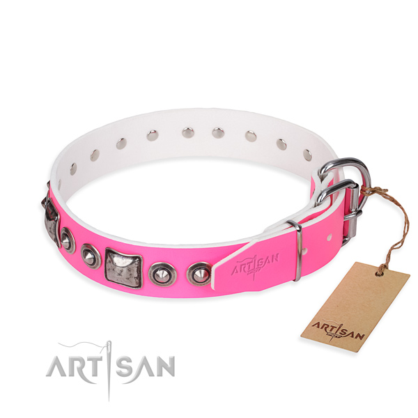 Top rate leather dog collar made for daily use