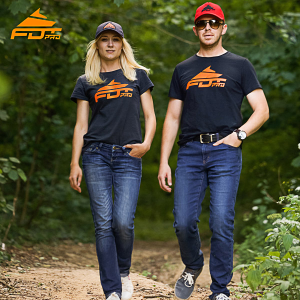 Orange Logo on FDT Professional Design T-shirt Dark Grey Color