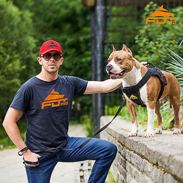 Men T-shirt of High Quality Cotton with Logo for Dog Training