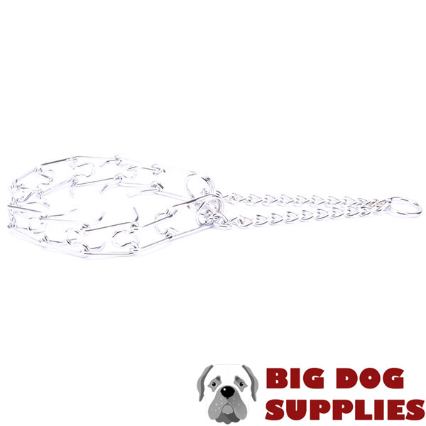 Top notch chrome plated pinch collar for obedience training