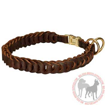 Leather Choke Collar for Dog Walking and Training