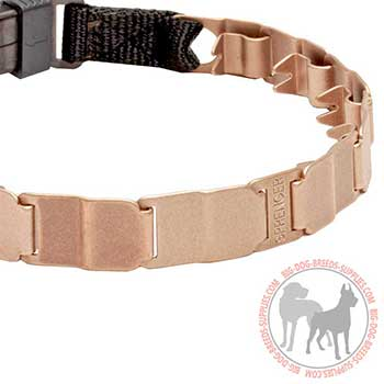 Safe Neck Tech Dog Collar of Curogan Alloy