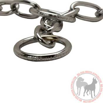 Dog chrome plated collar solid equipment