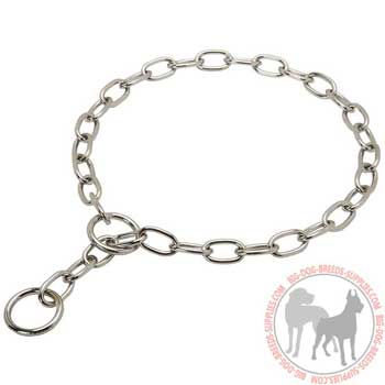 Chrome plated dog collar easy in use