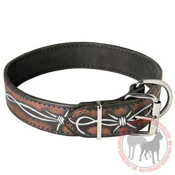 Training Leather Collar for Large Canines