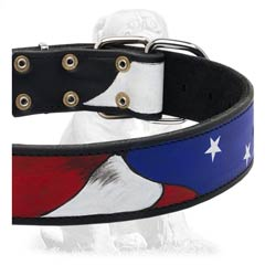 American flag leather colar
