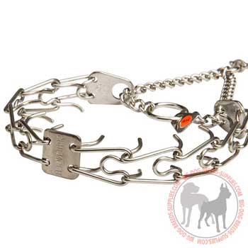 Pinch Dog Collar with Red Label