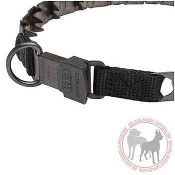 Stainless Neck Tech Dog Collar with Special Buckle