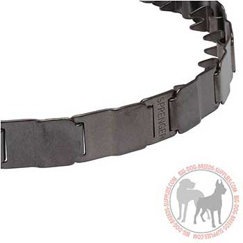 Steel Neck Tech Dog Collar with Stainless Prongs