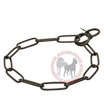 Dog choke collar fur saver with welded links