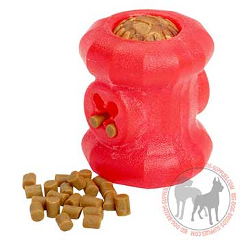 Eco-friendly Canine Rubber Toy for Treat Dispensing