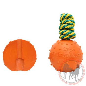 Dog rubber toy ribbed surface