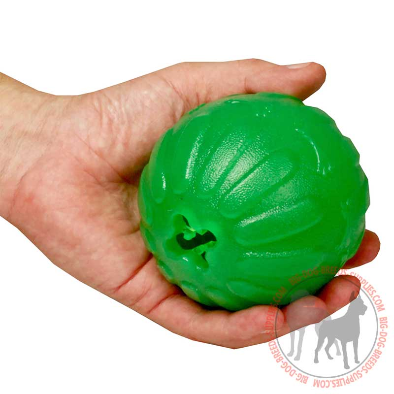 Rubber Ball Dog Toy : Mental stimulator rubber dog toy for treat dispensing