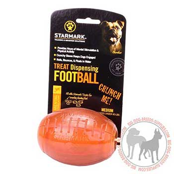 Canine Rugby Treat Dispenser for Chewing