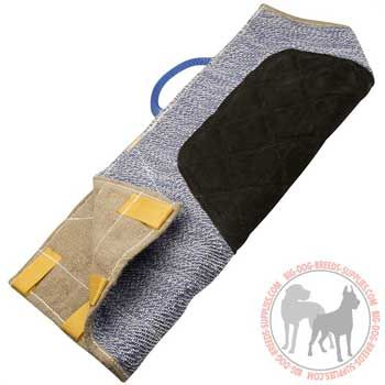 Extra strong dog bite sleeve cover with outside handle