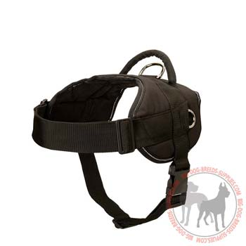 Reflective Pit Bull nylon harness ideal for night activities