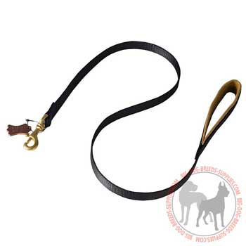 Leash for dogs with brass fittings
