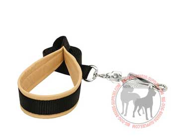 Dog leash with scissors-type hardware