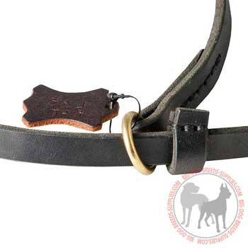 Leash choke collar with floating brass O-ring