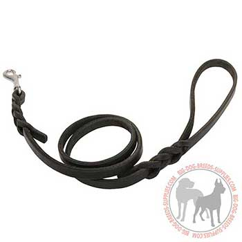 Leather Dog Leash with Rust Resistant Snap Hook