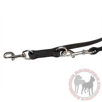 Leather Dog Leash with Floating O-rings