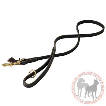 Tracking Leather Canine Leash