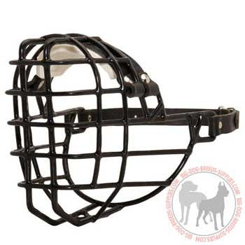 Metal cage dog muzzle easy adjustable